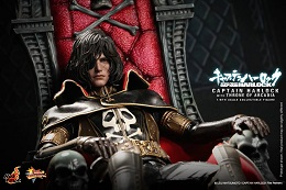 Preorders: Hot Toys Space Pirate Captain Harlock on Arcadia and with Throne 12″ Figure