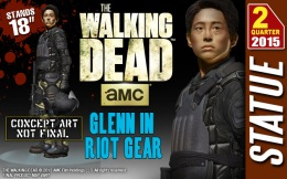 Preorders: Gentle Giant – The Walking Dead Glenn in Riot Gear 1/4 Statue