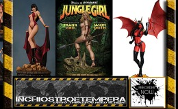 Preorders: Women of Dynamite – Jungle Girl, Vampirella & Purgatori Statues