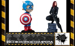 Preorders: Gentle Giant – Marvel Comics Mini-Statue Captain America by Skottie Young + Scarlett Johansson as Black Widow
