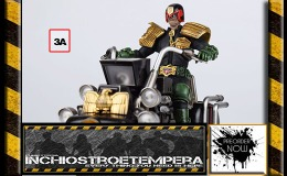 Preorders: ThreeA Toys – 2000 AD Judge Dredd + 2000 AD Vehicle with Light Up Lawmaster MK1
