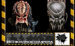 Preorders: CoolProps – Battle Damaged Celtic Predator Mask + Predator 2 Life-Size Bust