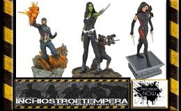 Preorders: Diamond Select – GOTG2, Dr. Strange, Cap. America, Elektra & SpiderwomanStatues