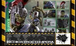 Preorder: Hot Toys – Gladiator Hulk – Thor: Ragnarok + DIECAST Iron Man Mark II 12″Figures