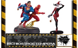 Preorder: DC Collectibles – Superman vs The Flash Racing + Harley Quinn by Joelle Jones
