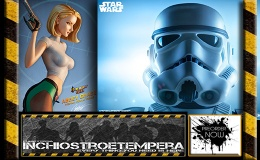 Preorder: Sideshow – Star Wars – Stormtrooper Life-Size Bust + Danger Girl: Abbey Chase Premium Format™ Figure