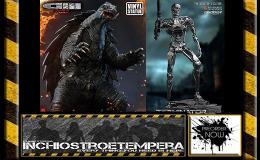 Preorder: Gamera 3 + Terminator Genisys T-800 Endoskeleton + Nightwing Red VersionStatues