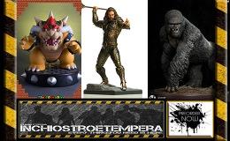 Preorder: Super Mario: Bowser, Iron Studios Aquaman, Gorilla beringeiStatues