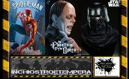Preorder: Kylo Ren Bust, Spider-Man by Mark Brooks, God of War, Lon Chaney Sr. Bust, Mass Effect WrexStatues