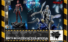 Preorder: Prime 1 Studio – Berserk Griffith + Justice League Flash Statues