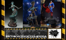 Preorder: Hot Toys – Groot & Rocket + Sideshow – Gallevarbe: Eyes of the Queen + P1 – Superman Hush