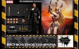 Preorder: Mezco Punisher One:12 Collective + ARH ComiX Figure 1/6 Skarah the Valkyrie